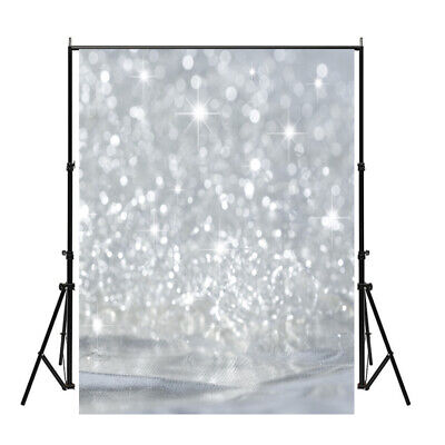 US 5x7ft Blink Silver Powder Photography Backdrop Valentines Dreamy Background