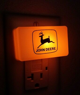 VTG John Deere Night Light Tractor Farm Implement Advertising Orange With Logo