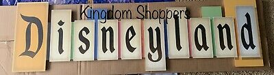 Disney Parks Disneyland VINTAGE PARK ENTRANCE MARQUEE Large Wood Sign NEW 36x11