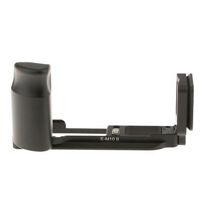 Black Hand Grip Quick Release Plate L Bracket for Olympus E-M10 MarkII