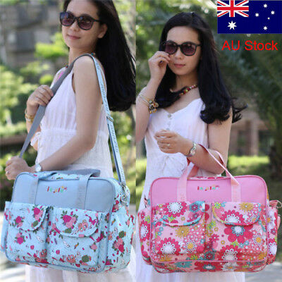 4 Colors Large Baby Diaper Bag Nappy Changing Pad Travel Mummy Bags Tote Handbag