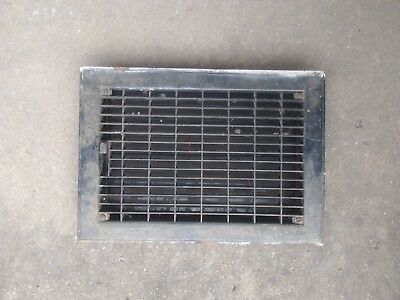 Vintage Architectural Salvage Floor / Wall Heat Register Louvers 12 x 8 in