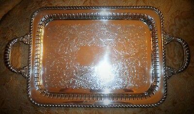 Gorgeous Gotham Silver Company Silver-Plated Serving Butler's Tray