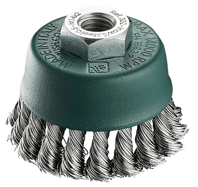 Sit TWIST KNOT WIRE CUP BRUSH 95mm Stainless Steel, M14x2.0mmx0.5mm, 1-Row