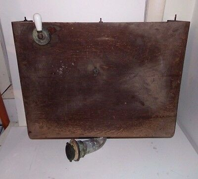 Antique Vtg Wood Toilet Tank US Water and Steam Supply Company Hardware