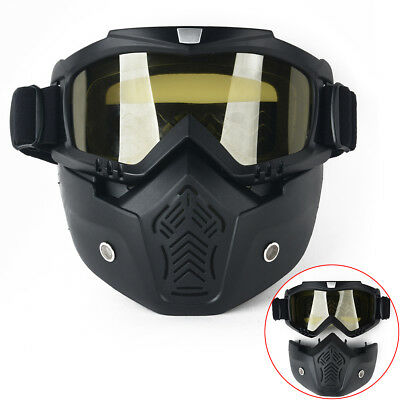 Ridding Motorcycle Arrival Detachable Modular Helmet Face Mask Shield Goggles