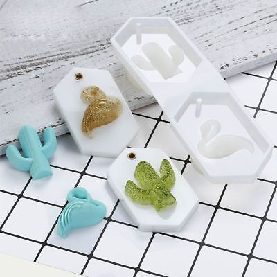 Silicone Mould Mold for DIY Resin Round Necklace jewelry Pendant Making toolNew