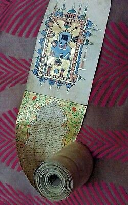 Antique Full Quran Roll - Koran / Real Gold Work - Mecca Madina Gold Painting
