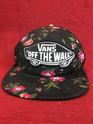 57efa766 Vans Off The Wall Classic Patch Death Bloom Snapback Trucker Hat Mens Skater