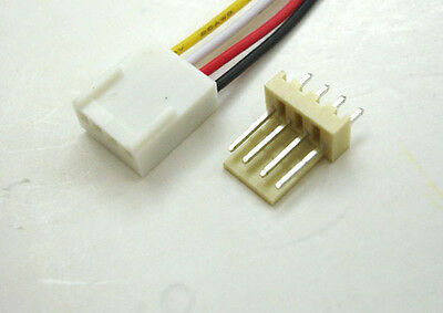 30 SET 2510 2.54 FAN 4-WAY Female Connector 30cm wire Cable Male Straight Header