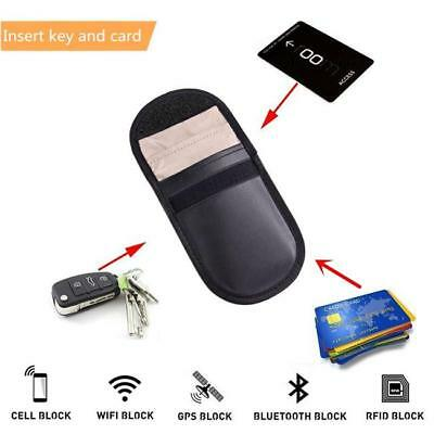 RF Signal Blocker Anti-Radiation Shield Case Bag Pouch for Car Key /Card LH