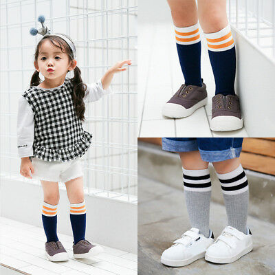 Kids Baby Toddler Girl Knee High Socks Children Boys Cotton Warm Socks Stockings
