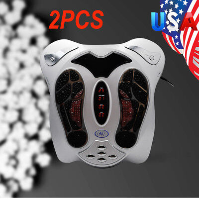 2PCS Circulation Blood Booster Electromagnetic Foot Massager Infrared USA SHIP