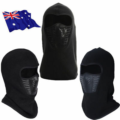 Full Face Thermal Fleece Balaclava Neck Warm Winter Ski Mask Cap Ninja Costume B