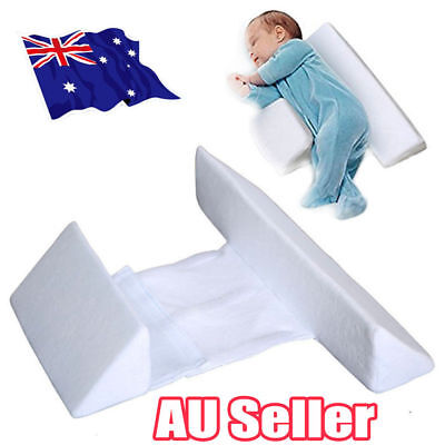Memory Foam Baby Infant Sleep Pillow Support Wedge Adjustable White Cotton BK