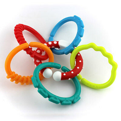 Infants Baby Teether Teething Toy Ring Chain Teeth Development Infants Supply
