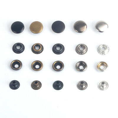 12.5/15/17mm Solid Brass Snap Fasteners Press Studs Sewing Leather Buttons Craft