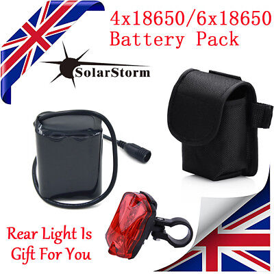 18650 Cree Bike Light Headlamp Battery Pack For  SolarStorm X2 X3 T6 Bicycle