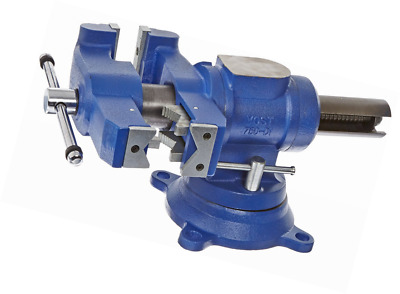 """Yost Vises 750-DI 5"""" Heavy-Duty Multi-Jaw Rotating Combination Pipe and Bench Vi"""