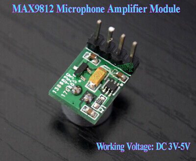 MAX9812 MIC Microphone Amplifier Module Voice Pickup Capture 20dB DC 3V-5V 3.3V