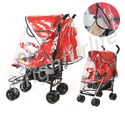 Universal Buggy Pushchair Baby Stroller Pram Transparent Clear Rain Cover UK