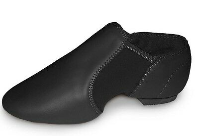 LEATHER Split Sole Pull on Jazz Shoes. Slip on style stretch arch. All Sizes NEW