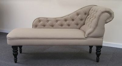 Chaise Longue in a Luxurious Oatmeal Fabric NEW