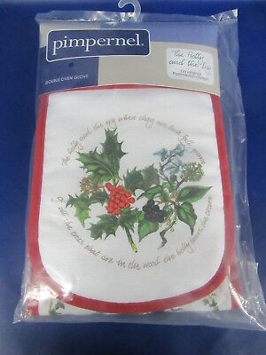 Holly & Ivy Oven Glove - Double Oven Glove Holly & Ivy - Brand New