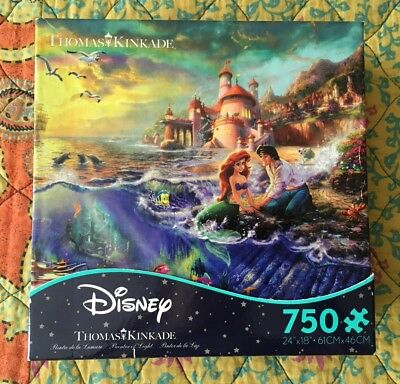 "Thomas Kinkade Disney Dreams ""The Little Mermaid"" 750 Piece Jigsaw Puzzle"