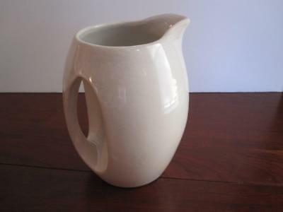 "Vintage Camark Arkansas Pottery Vase #855 6"" Inset Handle Cream"