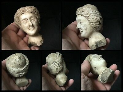 Rare Superb Small Roman Marble Head Of Hercules 1st 2nd Cent AD