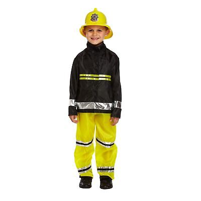 Childrens Fireman Costume Age 4-6 Years Small Size Emergency Uniform Fancy Dress