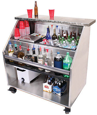 Commercial Portable Bar with Casters 48""