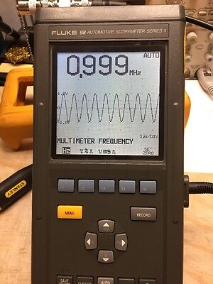 FLUKE 98 SERIES II AUTOMOTIVE SCOPEMETER *TESTED* charging Battery!