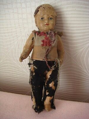 RRR RARE Antique Papier Mache Doll