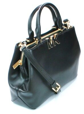 Michael Kors Florence Black Pebbled Leather Shoulder Satchel Handbag RRP  £330 eaad47f0da07
