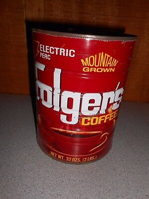 Vintage Folgers 2 lb Coffee Can