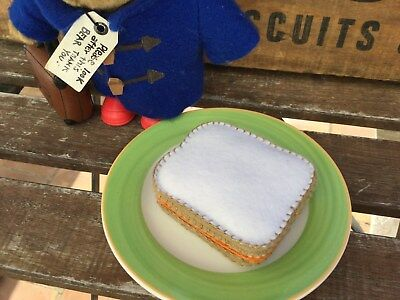Paddington Bear Marmalade Sandwich - Handmade Felt Pretend Toy Food