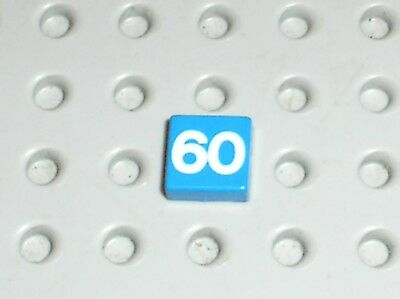 LEGO 3070bpb003 @@ Tile 1 x 1 with Number 60 White Pattern @@ 6381 6395
