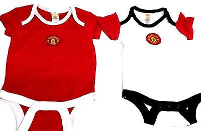 Manchester United Baby Vest Grow official Football Club Gifts