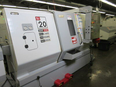 Haas SL-20TL Live Tool CNC Lathe with Servo 300 Bar Feeder