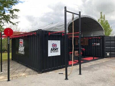 20ft Shipping Container Valet Bay Canopy Workshop Shelter Cover Workspace Store