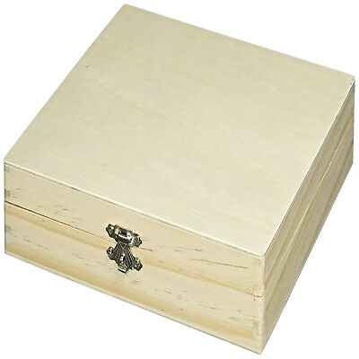Pine Wood Cigar Box Unfinished Wooden Sanded Smooth Cigars Storage