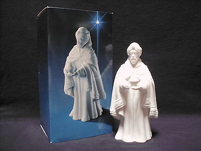 Avon Nativity Collectibles King Magi BALTHASAR Wise Man White Porcelain Bisque