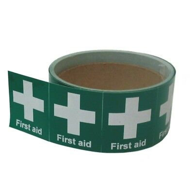 10x First Aid Helmet Stickers 50mm x 50mm (HSFA-02)