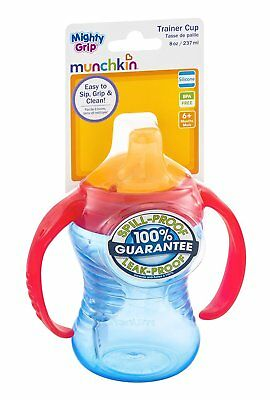 Munchkin Mighty Grip Trainer Cup, 8 Oz, Colors May Vary ( Pack of 2)