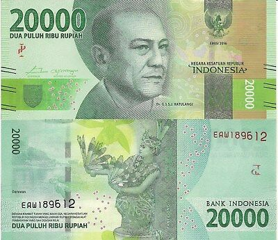 INDONESIA 50000 Rupiah Banknote World Paper Money UNC Currency Pick p159 2016