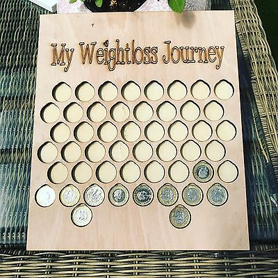 £1 for 1lb weight Loss  chart motivation plaque fitness gift diet Save £50