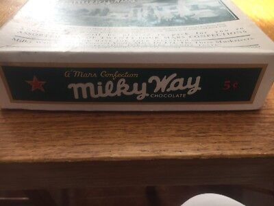 Very Early Confection Used Milky Way Chocolate Candy Bar Box Great Shape