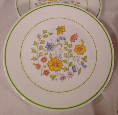 """5 Corelle Spring Meadow Luncheon Plates 8 1/2"""""""